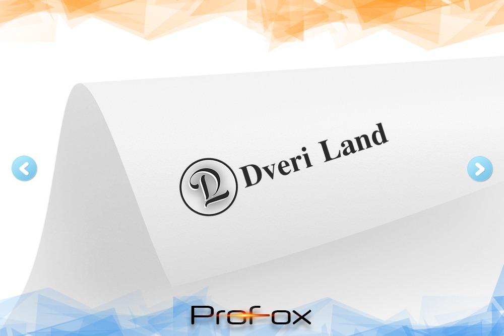 Дизайн логотипа для «Dveri Land» вид 1