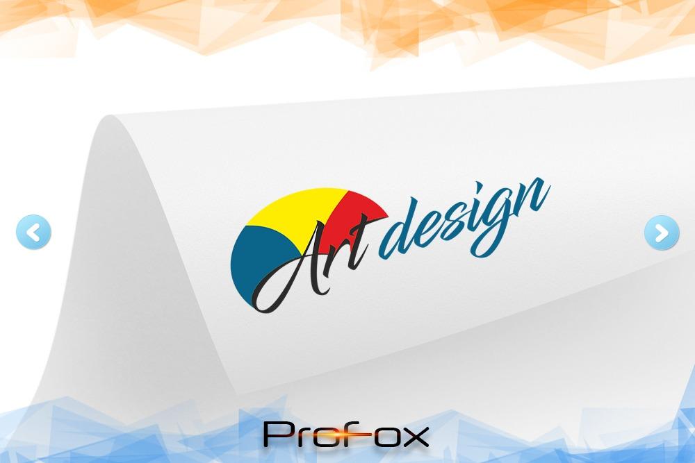 Дизайн логотипа для «Art design» вид 1