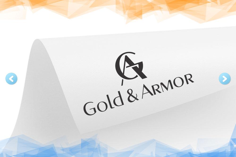 Дизайн логотипа для «Gold & Armor» вид 1
