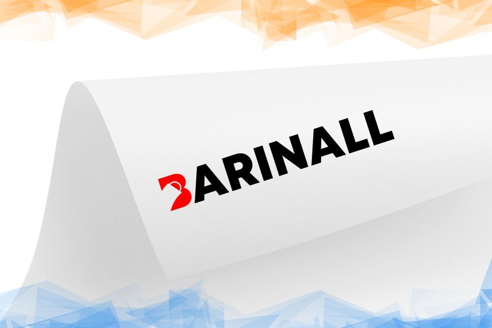 Дизайн логотипа для «Barinall» вид 1