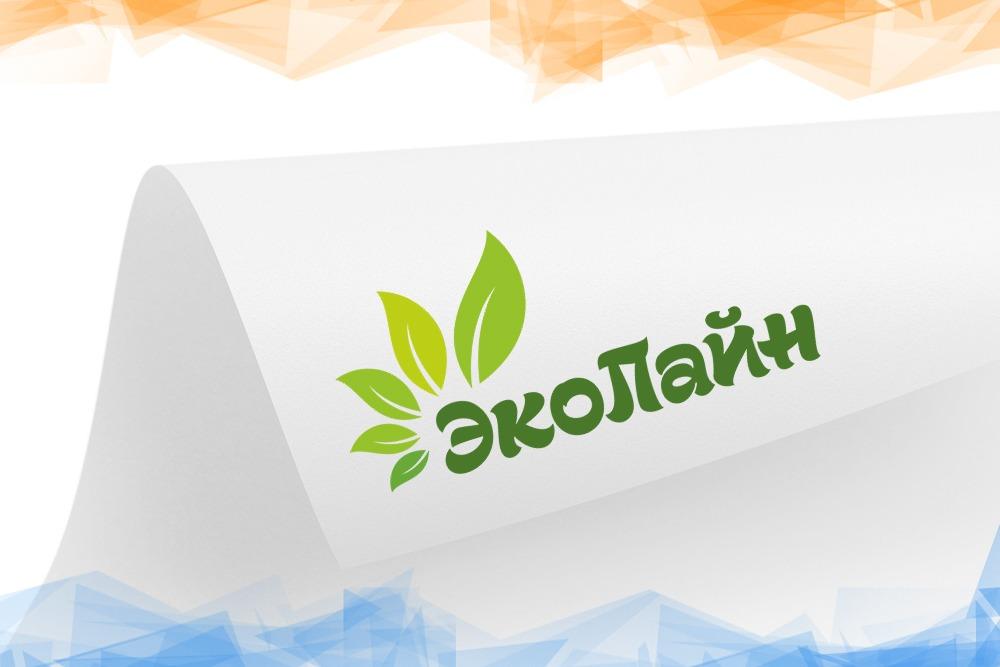 Дизайн логотипа для компании «Эколайн» вид 1