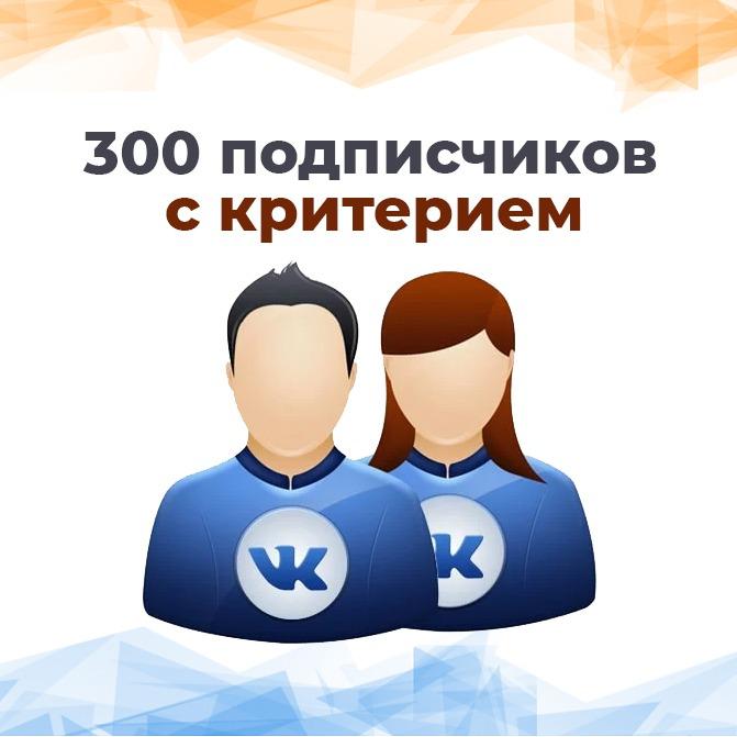300 качественных и живых подписчиков Вконтакте. Без ботов и программ