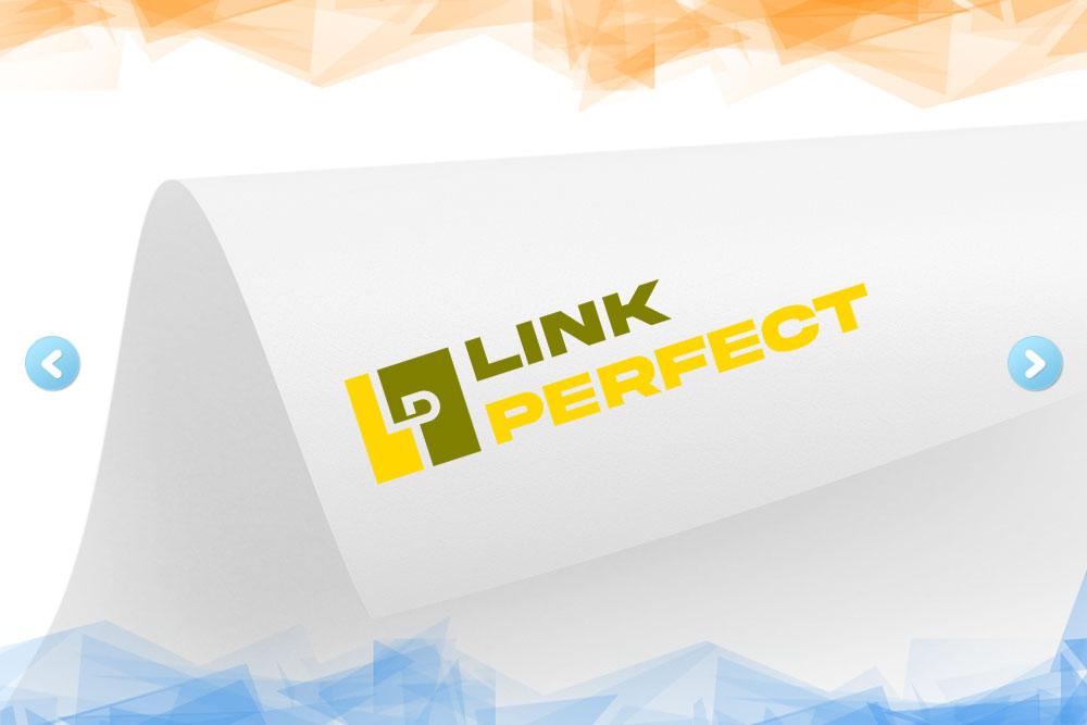 Дизайн логотипа для компании «Link Perfect» вид 1