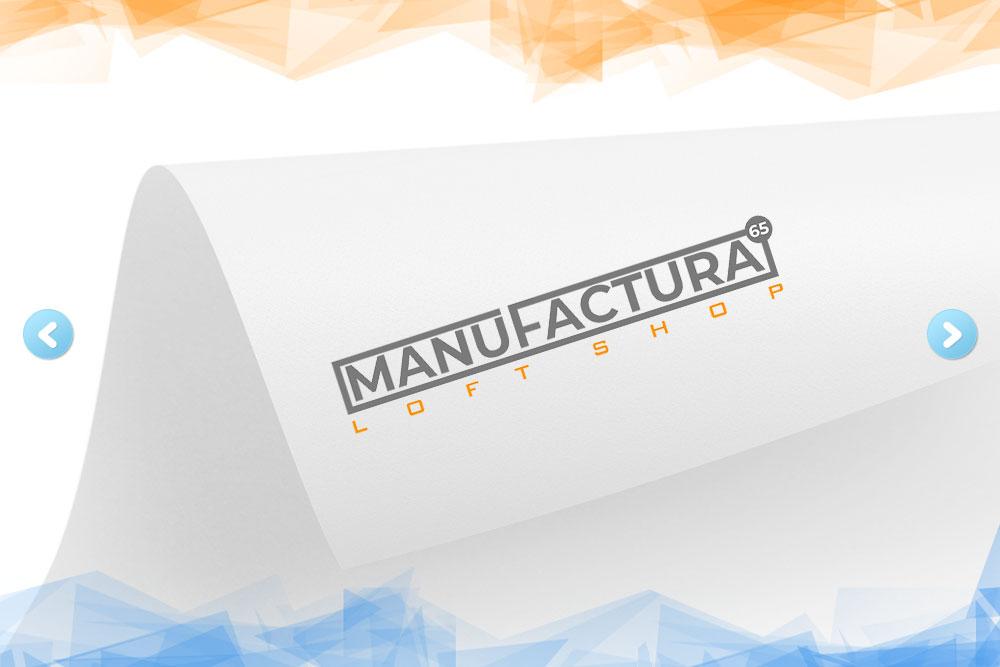 Дизайн логотипа для компании «Мануфактура» вид 1