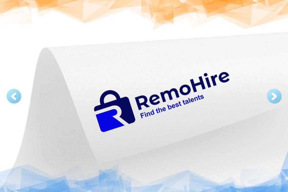 Дизайн логотипа для компании «RemoHire» вид 1