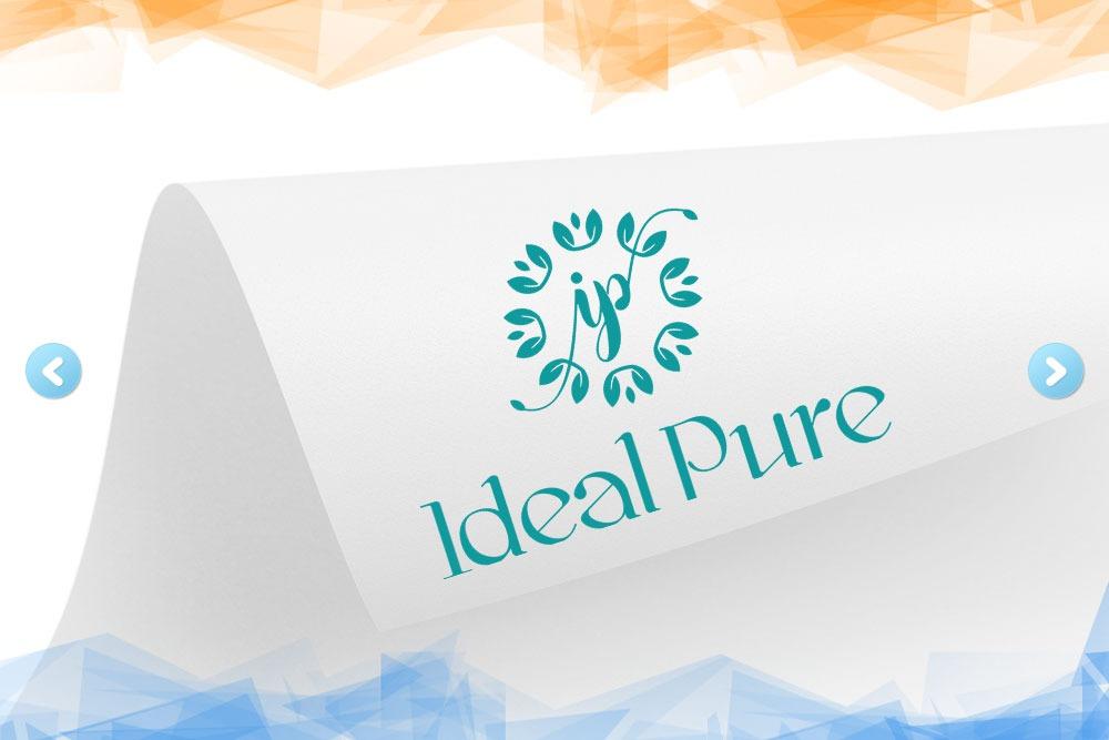 Дизайн логотипа для компании «Ideal Pure» вид 1