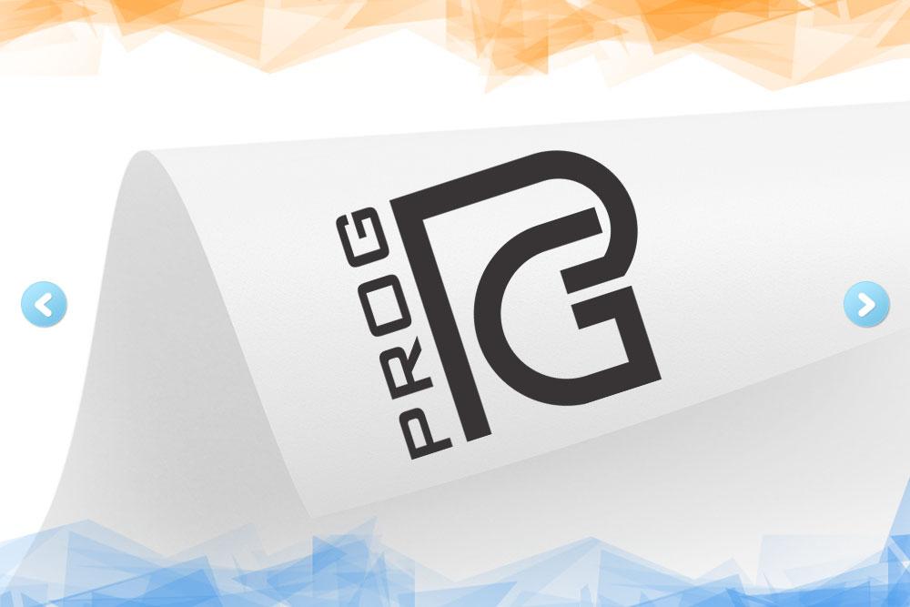 Дизайн логотипа для компании «ProG» вид 1