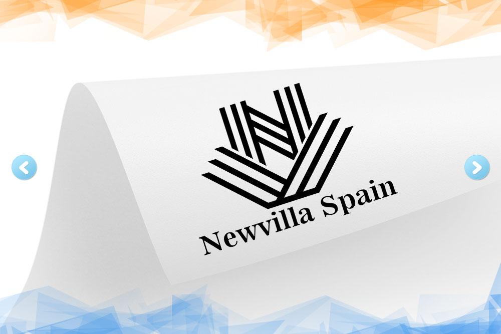 Дизайн логотипа для «Newvilla Spain» вид 1
